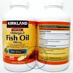 Kirkland Fish Oil 1000 mg Natural Omega-3 400 Softgels บำรุงหัวใจ เพิ่มการไหลเวียนของระบบเลือด ช่วยให้ผิวหน้าเปล่งปลั่งยิ่งขึ้น