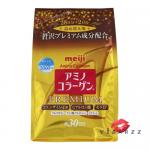 (Refill) Meiji Amino Collagen Premium 5000mg 214g แบบซอง รุ่นพรีเมียม เพิ่ม เซรามิโดะ + Hyaloronich + Q10 + Vitamin C