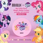 (#2 Natural) Mille My Little Pony Magic Matte 2Ways Powder Oil Control SPF22 PA++ 11g แป้งผสมรองพื้นระดับพรีเมี่ยมจากคอลเลคชั่น My Little Pony มุ๊งมิ๊งน่ารัก ปกปิดเรียบเนียน คุมมันดีเยี่ยม ผิวสวยไร้ที่ติตลอดวัน