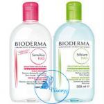 Bioderma Packคู่ ประกอบด้วย Sensibio (Crealine) 500 mL + Sebium H2O 500 mL สำหรับเช็ดเครื่องสำอา