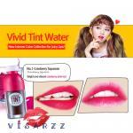 (# 1 Cranberry Squeeze) Peripera Vivid Tint Water 5.5mL ลิปทินต์น้ำผลไม้ หอมหวานอมเปรี้ยว เนื้อบางเบา มอบเม็ดสีแน่น สีคมชัดติดทนนาน ช่วยเติมสีสันที่สดใส