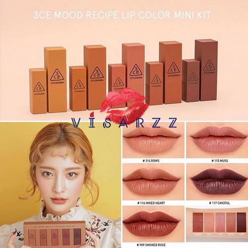 3CE Mood Recipe Lip Color Mini Kit 5 x 1.3g รวม collection สุดฮิต ครบทั้ง 5 สีสุดสวย