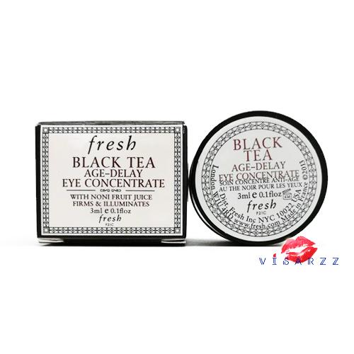 (Tester 3mL) Fresh Black Tea Age-Delay Eye Concentrate ครีมบำรุงผิวรอบดวงตาสูตรเข้มข้นที่ช่วยลดเลือนริ้วรอยแห่งวัย อีกทั้งยังคืนความชุ่มชื่นและเพิ่มความกระชับให้ผิวรอบดวงตา