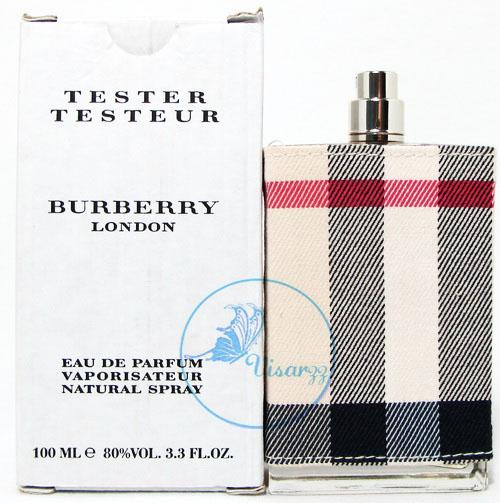 (กล่อง Tester) Burberry London EDP for Women 100 mL น้ำหอมสำหรับคุณผู้หญิง กลิ่นที่สะท้อนความเป็นเมืองเก่าแก่ คลาสสิค ของกรุงลอนดอน