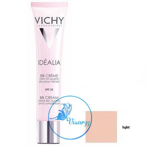 (Exp.06/16) Vichy Idealia BB Cream SPF25 40 mL # Light Shade บีบีผสมสารกันแดด ให้หน้าขาวอมชมพู ปกปิดทุกรอยที่ไม่ต้องการ