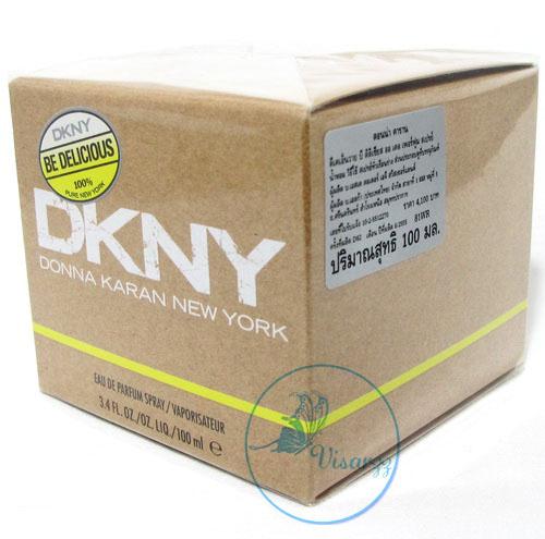 (ลดพิเศษ 50%) DKNY Be Delicious Eau De Parfum Spray 100 mL แอปเปิ้ลเขียว ตัวที่ขายดีที่สุดในหมู่ DKNY