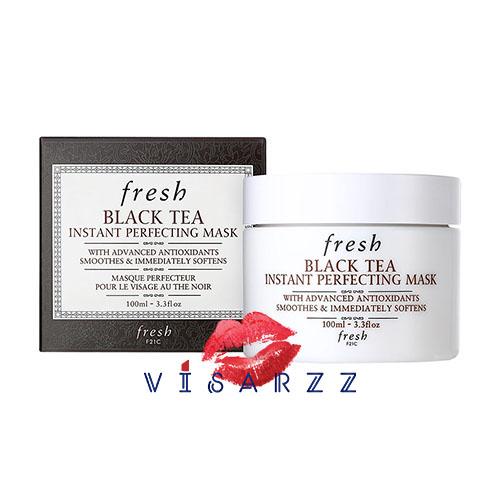 ลดพิเศษ 30% Fresh Black Tea Instant Perfecting Mask 100mL มาสก์ มาพร้อมกับสารต้านอนุมูลอิสระอันก้าวล้ำ ที่ทำหน้าที่ เสมือนสารเพิ่มความชุ่มชื้น ที่ช่วยปรับสภาพผิวให้เนียนนุ่ม แน่นกระชับแล ดูสุขภาพดีขึ้นในทันที และด้วยนวัตกรรมอันล้ำหน้าเนื้อมาสก์จึงมีความนุ
