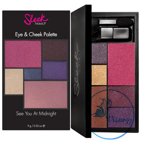 Sleek Eye & Cheek Palette 9g # See You At Midnight 028 พาเลทรวมบลัชออน และอายแชร์โดว์ เฉพาะสีขายดี มารวมไว้ด้วยกัน