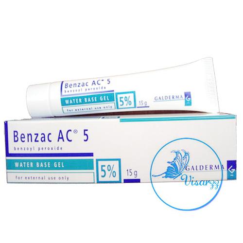 (ขายส่ง 110.-) Benzac AC Gel 5% หลอดเล็ก 15 g ประกอบด้วย Benzyl peroxide 5% เบนแซคใช้ทาเพื่อรักษาสิว ฆ่าเชื้อแบคทีเรียอันเป็นสาเหตุของสิว ทำให้หัวสิวหลุดออกจากตุ่มส