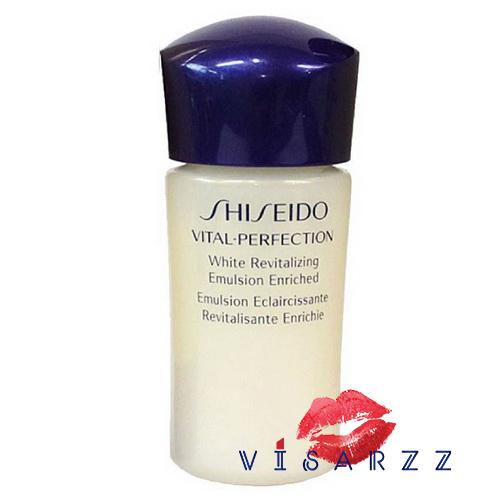 (Tester) Shiseido Vital Perfection White Revitalizing Emulsion Enriched 15mL ฟื้นบำรุงผิวจากความแห้งกร้านให้ผิวชุ่มชื่น และเสริมประสิทธิภาพการฟื้นบำรุงผิวจากริ้วรอยแห่งวัย