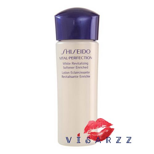 (Tester) Shiseido Vital Perfection White Revitalizing Softener Enriched 25mL โลชั่นสูตรทรงประสิทธิภาพ คืนความชุ่มชื่นที่ช่วยเสริมการทำงานตามธรรมชาติของผิว เพื่อฟื้นบำรุงผิวจากริ้วรอยแห่งวัย
