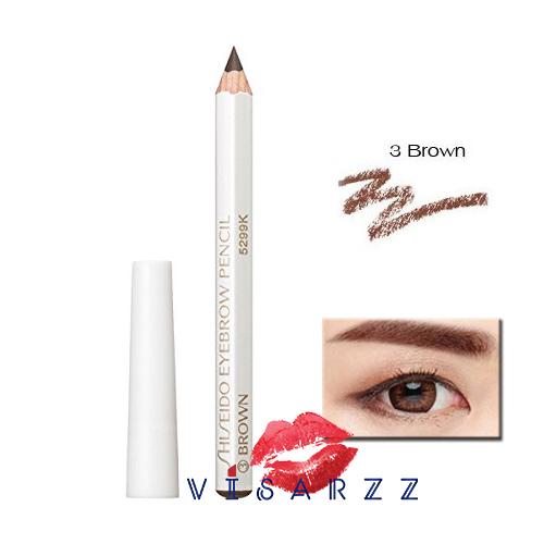 (ขายส่ง 75.-) Shiseido Eyebrow Pencil 1.2g # 3 Brown (8 cm) ดินสอเขียนคิ้ว ใช้ง่าย เขียนง่าย ติดทน