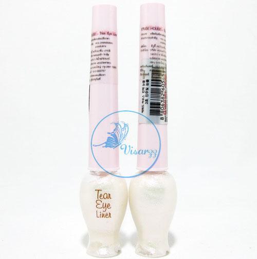 Etude House Tear Eye Liner # 3 Pink Pearl สีชมพูประกาย อายไลน์เนอร์แบบวิ้ง เพิ่มประกายสวยใสให้ดวงตา