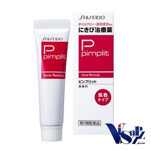 Shiseido Pimplit Acne Remedy 18g แบบเนื้อครีมสีนู้ด ครีมแต้มสิวยอดนิยมจากญี่ปุ่น แก้ไขทุกปัญหาสิวกวนใจ ช่วยอาการอักเสบ ลดการบวมแดง เร่งให้สิวแห้งและยุบตัวได้เร็วขึ้น โดยไม่ทิ้งรอยแผลเป็นหรือจุดด่างดำหลังจากสิวหาย สามารถใช้ได้กับสิวอักเสบ สิวหนอง สิวหัวดำ