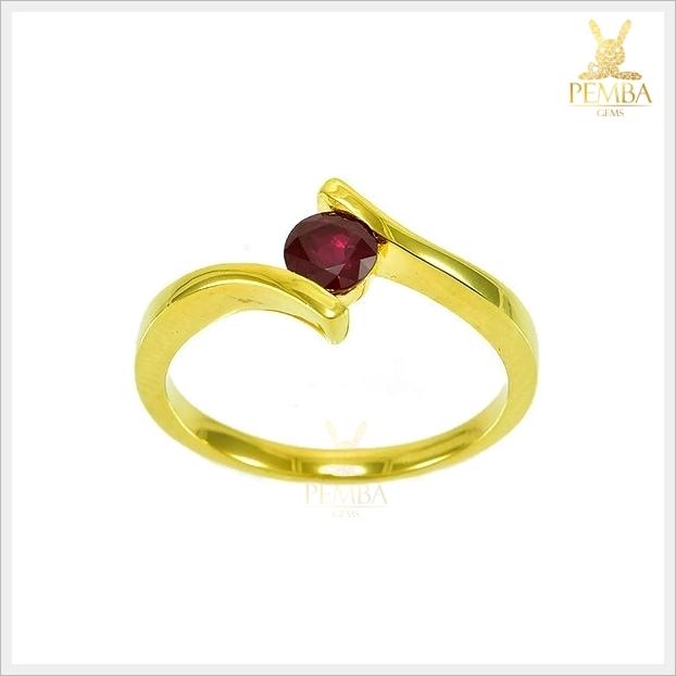 แหวนทับทิมไทย สวยเก๋ น่ารักๆ (สามารถสั่งทำได้ค่ะ)