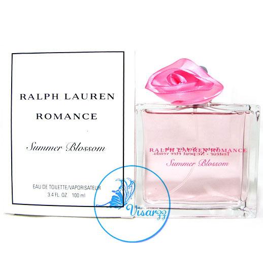 (ลดพิเศษ 38%) Ralph Lauren Romance Summer Blossom EDT 100 mL กลิ่นหอมสดชื่นแต่แฝงไว้ด้วยความหอมละมุน สื่อให้เห็นถึงการมอบความรักให้แก่กันและกัน
