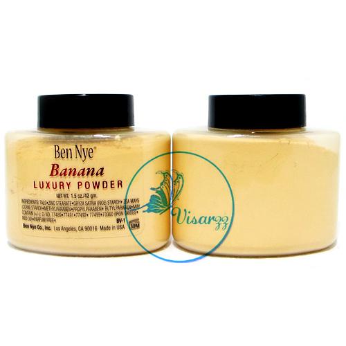 Ben Nye Banana Luxury Powder 42 g แป้งกล้วยสุดฮิต สินค้าขายดีตอนนี้ของอเมริกา คุมมันดีเยี่ยม เนื้อเนียนเรียบ