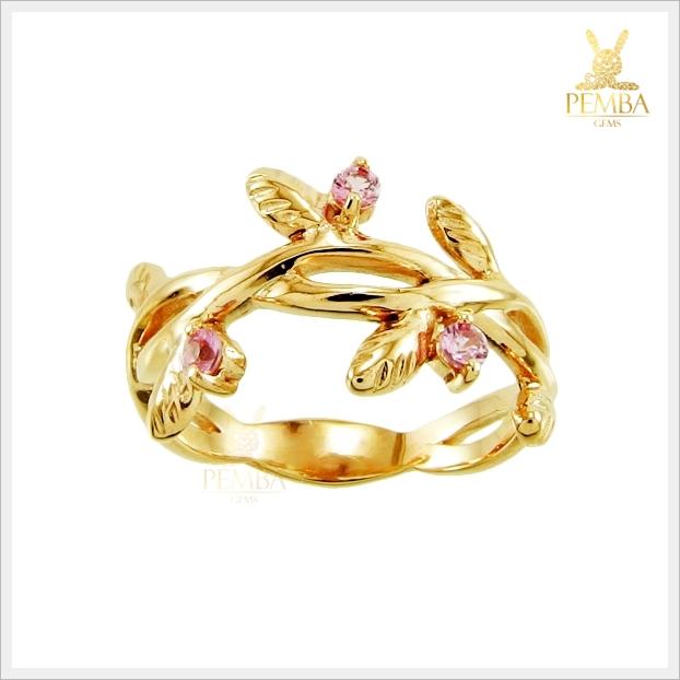 แหวนพิงค์แซฟไฟร์แท้ พิงค์โกลด์ สวยเก๋ น่าสวมใส่ (สอบถามราคา)