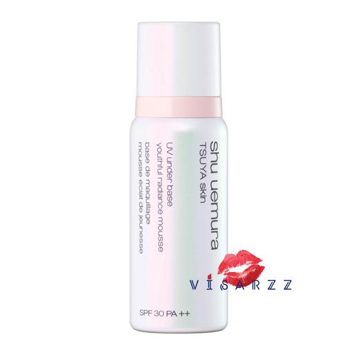 (Tester) Shu Uemura Tsuya Skin UV Under Base Youthful Radiance Mousse SPF30 PA++ 30g เปิดความสว่างให้ผิวของคุณ เพื่อผิวพรรณที่แลดูงดงามราวผลัดผิวใหม่ ด้วยเนื้อสัมผัสเปลี่ยนรูปได้และอณูประกายมุก ขณะที่ Round Shape Smoothing Filler สารเติมเต็มร่องริ้วรอยทรง