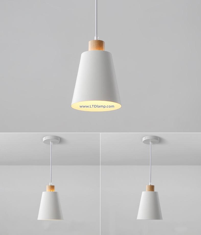 โคมไฟขาว หัวไม้ โคมไฟธรรมชาติ