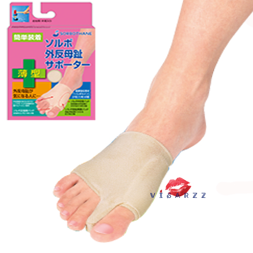 (เท้าขวา Size M) Sorbo Hallux Valgus Supporter อุปกรณ์ช่วยภาวะนิ้วเท้าผิดรูป คดงอ ผลิตจากผ้าและซิลิโคนเนื้อนุ่ม ช่วยให้รู้สึกสบายเวลาสวมใส่