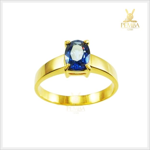 แหวนไพลินแท้ ร่ำรวยเงินทอง เป็นที่รักใคร่ (สามารถสั่งทำได้ค่ะ)