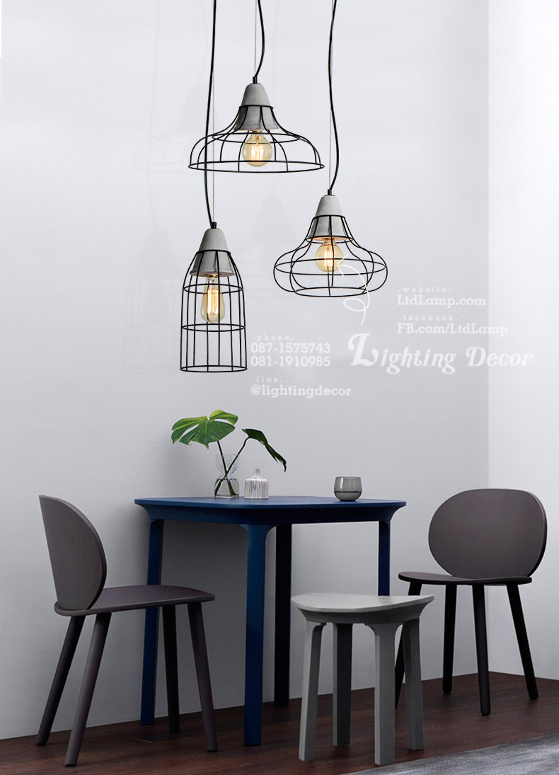 โคมไฟซีเมนต์ Sement lamp