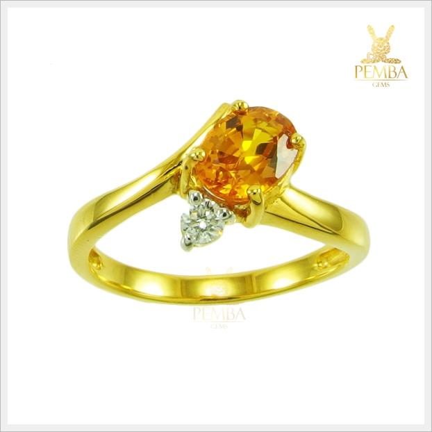 แหวนพลอยบุษราคัมแท้ สวยใสไฟดี สีน้ำทอง (สามารถสั่งทำได้ค่ะ)