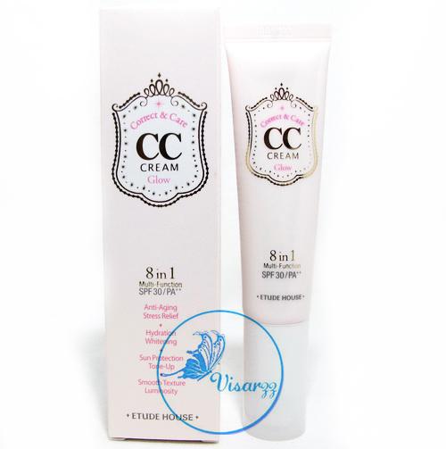 (#2 Glow) Etude House Correct & Care CC Cream SPF30 / PA++ 35 g # 02 Glow เนื้อบางเบา ดูเป็นธรรมชาติกว่า บีบีครีม กำลังได้รับความนิยมในเกาหลีอย่างมาก