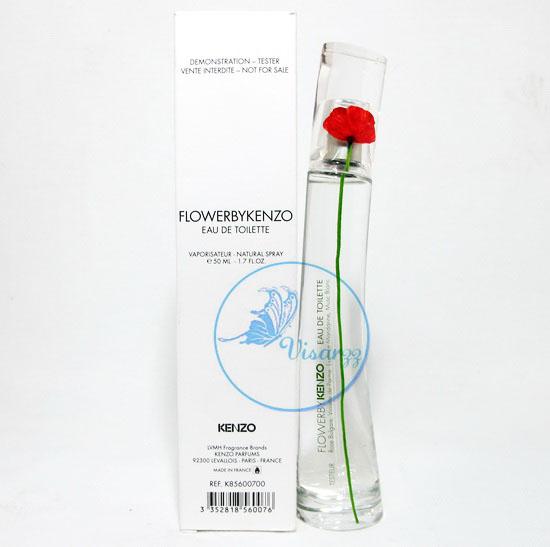 (กล่อง Tester ลด 55%) Kenzo Flower by Kenzo EDT 50 mL น้ำหอมเคนโซ ดอกไม้แดง หอมสไตล์สบายๆ น่าคลอเคลีย น่าอยู่ใกล้ด้วยนานๆ