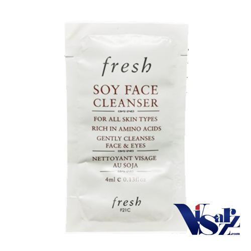 (Tester 4mL x 4ซอง= 16mL) Fresh Soy Face Cleanser เจลล้างหน้าที่มีความอ่อนโยน ใช้ได้กับทุกสภาพผิว ชำระล้างสิ่งสกปรกที่ตกค้างบนใบหน้ารวมทั้งเมคอัพ