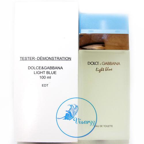 (กล่อง Tester ลดมากกว่า 45%) Dolce & Gabbana Light Blue EDT 100 mL ขายดีที่สุดของ D&G กลิ่นหอมสดชื่นหัวใจ ไม่ฉุน กลิ่นเบาๆสบาย