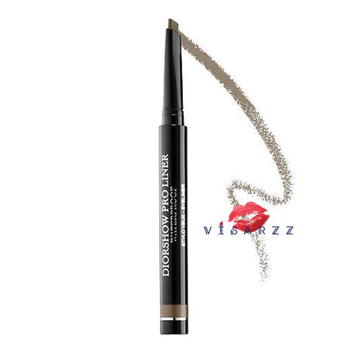 (ขนาดจริง No Box ลดพิเศษ 40%) Dior Diorshow Pro Liner Waterproof 1.2g #042 Backstage Grey อายไลเนอร์กันน้ำ แท่งดินสอแบนเพื่อการวาดเส้นขอบตาได้แม่นยำ เด่นชัดขึ้น