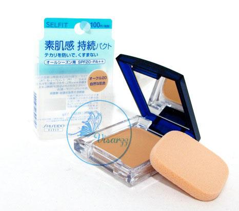 ขายส่ง 350.- (#20) Shiseido Selfit Foundation Powder SPF20 PA++ 13g สำหรับผิวขาวเหลือง ขนาดเต็มพร้อมกล่อง แป้งผสมรองพื้นเนื้อบางเบา ให้ความเป็นธรรมชาติ