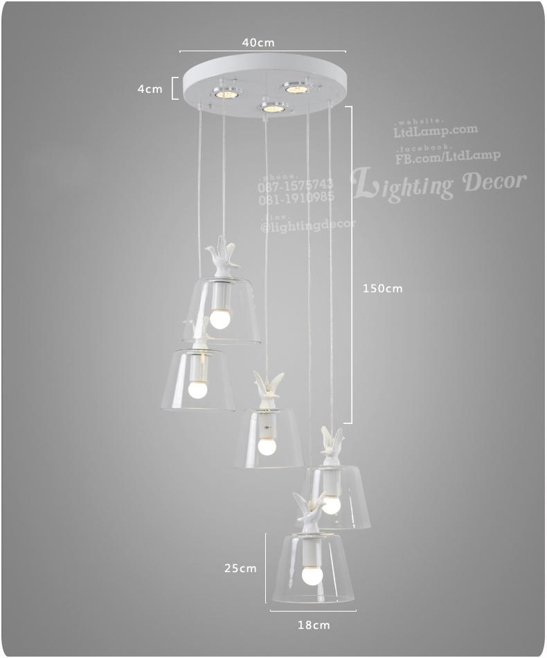 แบบโคมไฟแก้ว เซรามิก รูปหงส์ ด้านบนโคมไฟ โคมไฟแก้วหัวหงส์