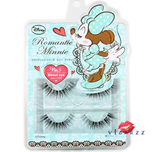 Disney Japan Romantic Minnie Mouse No.5 (Sweet Eye) - Black ขนตาปลอดสวยฟู ต่อแบบธรรมชาติสลับความยาว เน้นปลายให้ตาหวาน ติดแล้วเพิ่มความแบ๊วให้กับตาได้ 200% เลยค่ะ