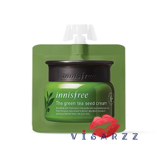 Innisfree The Green Tea Seed Cream 5mL ครีมบำรุงผิวสารสกัดจากใบชาเขียวสดและเมล็ดชาเขียวที่เก็บเกี่ยวบนเกาะเชจู