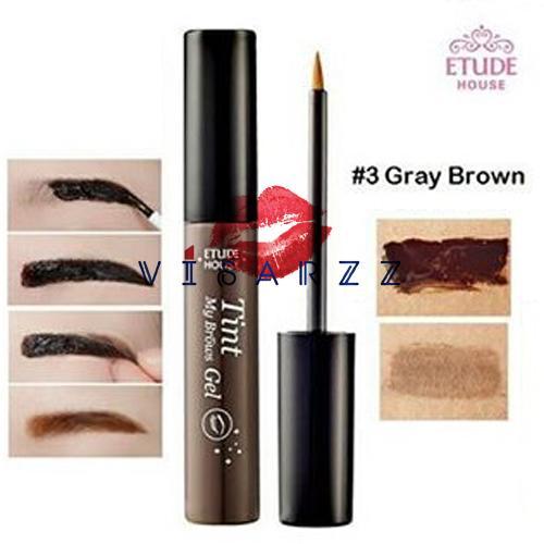 Etude Tint My Brows Gel 5g # 3 Gray Brown เจลเพ้นท์สีคิ้ว ให้สีติดทนนานราวกับสักคิ้ว ให้คุณพร้อมสวยตลอดเวลาไม่ว่าจะเหงื่อออกหรือลงน้ำ ไม่ต้องคอยเติมระหว่างวัน