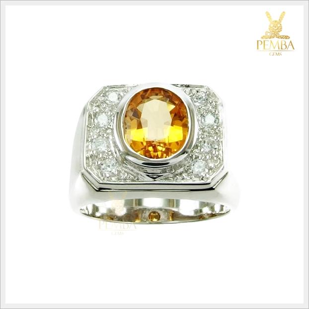 แหวนซิทรินแท้ เสริมสร้างมั่นใจ
