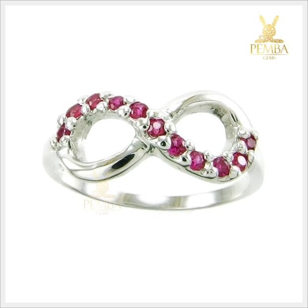 แหวนทับทิม เงินแท้ รูป Infinity