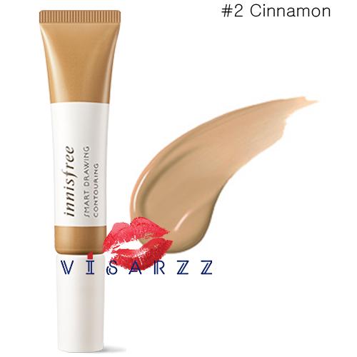 (#2 Cinnamon) Innisfree Smart Drawing Contouring 12mL ปรับรูปหน้าให้ใบหน้าดูเรียวเล็ก ด้วยหัวพูกันในตัว ทำให้ใช้งานง่ายมากขึ้น เนื้อบางเบา ติดทนนาน ไม่เป็นก้อน เกลี่ยง่ายมาก