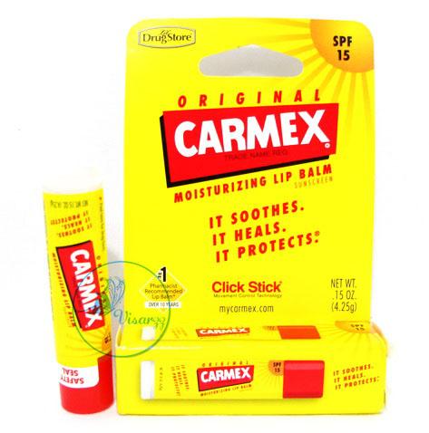 Carmex Moisturizer Lip Balm Sunscreen Original SPF15 4.25 g แบบสติ๊ก สูตรดั้งเดิม บำรุงริมฝีปาก