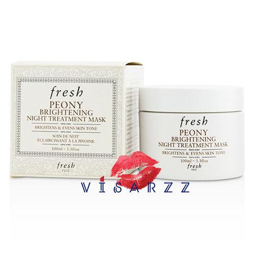 ลดพิเศษ 30% Fresh Peony Brightening Night Treatment Mask 100mL เผยผิวสว่างกระจ่างใสในยามเช้าด้วยมาสก์ทรีทเมนท์สำหรับกลางคืน ปรับสีผิวที่ไม่สม่ำเสมอและฟื้นบำรุงผิวคล้ำเสียให้กระจ่างใสอย่างเป็นธรรมชาติ ในช่วงเวลาที่คุณหลับ ให้คุณตื่นขึ้น