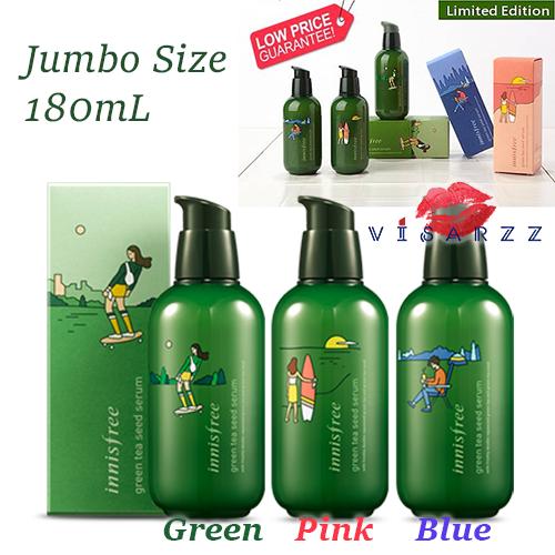 (No Box เลือกลายไม่ได้) Innisfree Green Tea Seed Serum 160mL สูตรปรับปรุงใหม่ เพิ่มความเข้มข้นของ Beauty Green Tea ถึง 3.5 เท่า