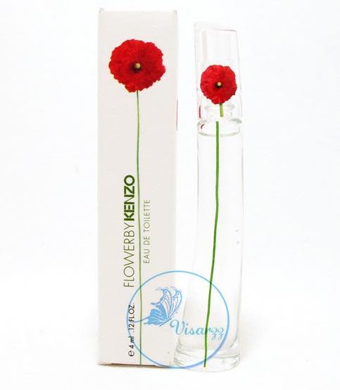 Kenzo Flower by Kenzo EDT 4 mL แบบแต้ม น้ำหอมเคนโซ ดอกไม้แดง หอมสไตล์สบายๆ น่าคลอเคลีย น่าอยู่ใกล้ด้วยนานๆ