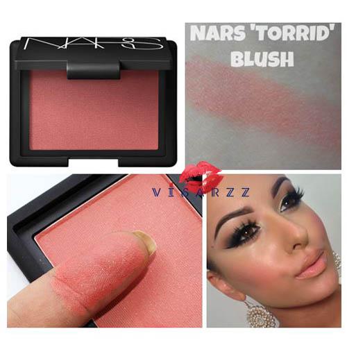 (Torrid ลดมากกว่า 40%) Nars Blush Cheek Color # Torrid 4.8 g บลัชออนสีขายดี Torrid สีคอรัลอมส้มผสมประกายชิมเมอร์ละเอียดสีทอง