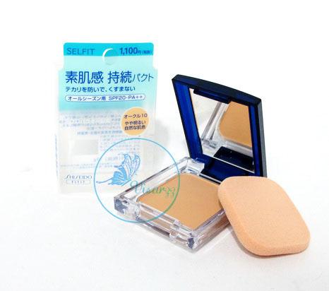 ขายส่ง 350.- (#10) Shiseido Selfit Foundation Powder SPF20 PA++ 13g สำหรับผิวขาว ขนาดเต็มพร้อมกล่อง แป้งผสมรองพื้นเนื้อบางเบา ให้ความเป็นธรรมชาติ