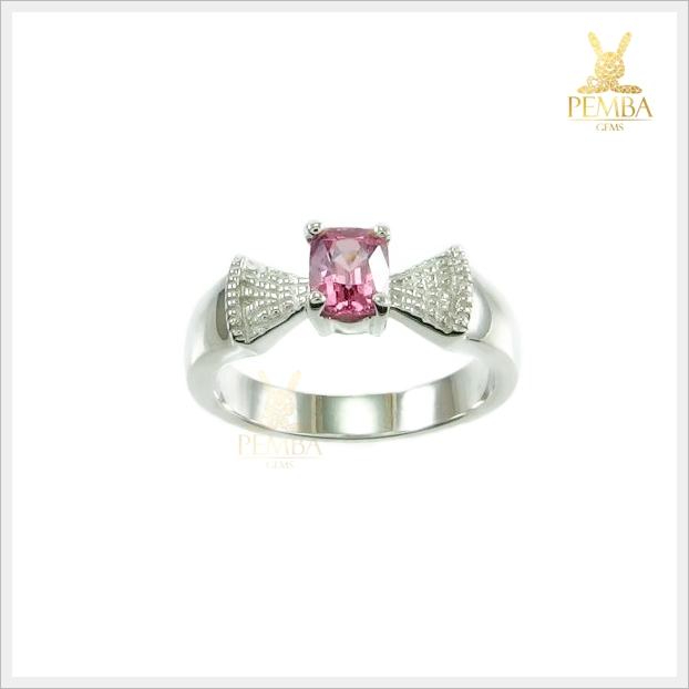 แหวนพิงค์สปิเนลแท้ สีชมพูสวยใส ใส่ได้ทุกโอกาส