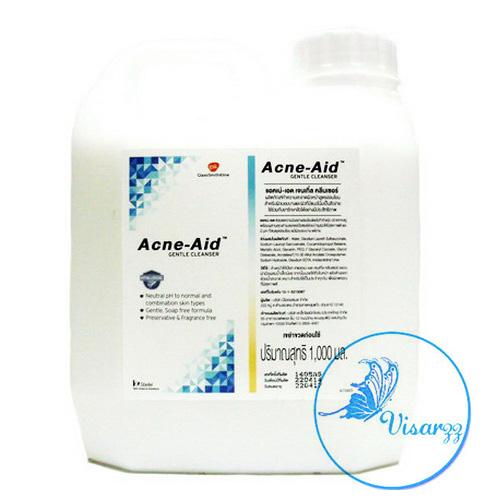 Acne Aid Gentle Cleanser 1000mL สบู่เหลวล้างหน้า สำหรับผิวบอบบางและผิวที่มีแนวโน้มเป็นสิวง่าย