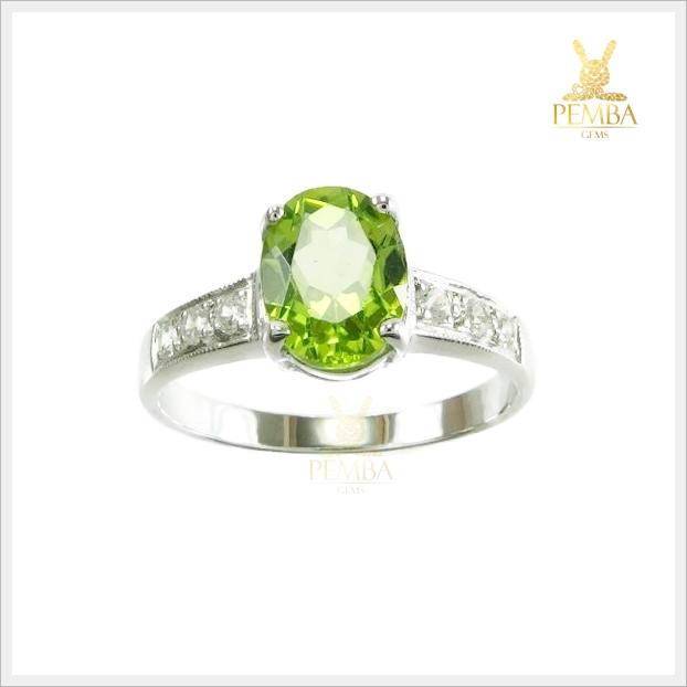 แหวนเพริดอตแท้ เพิ่มอำนาจยิ่งใหญ่ดังราชสีห์